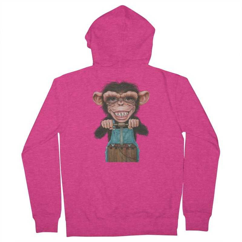 Boom Box (cut out) Women's French Terry Zip-Up Hoody by Ken Keirns