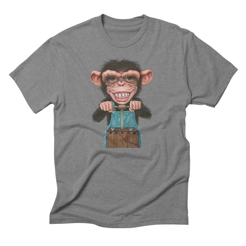 Boom Box (cut out) Men's Triblend T-Shirt by Ken Keirns