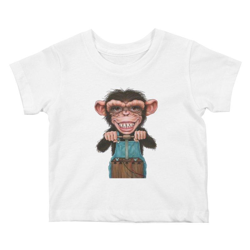 Boom Box (cut out) Kids Baby T-Shirt by Ken Keirns