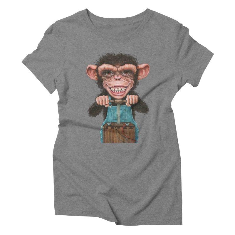 Boom Box (cut out) Women's Triblend T-Shirt by Ken Keirns