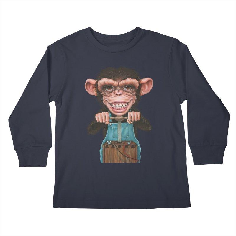 Boom Box (cut out) Kids Longsleeve T-Shirt by Ken Keirns