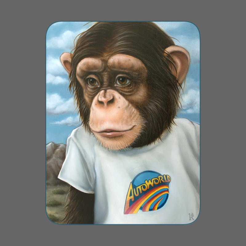 Auto Chimp Men's T-Shirt by Ken Keirns