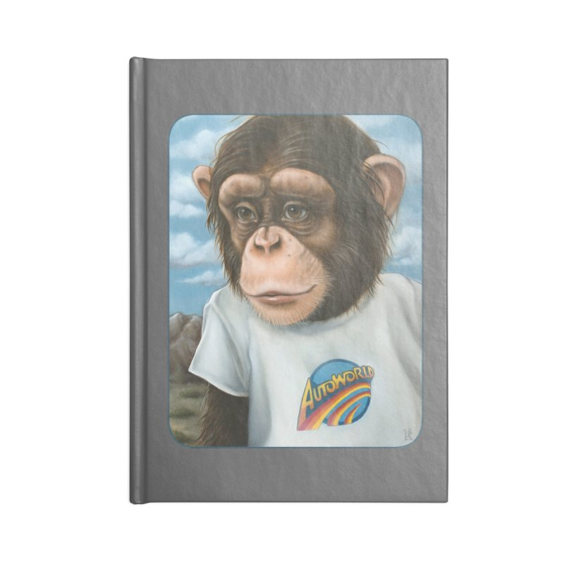 Auto Chimp Accessories Lined Journal Notebook by Ken Keirns