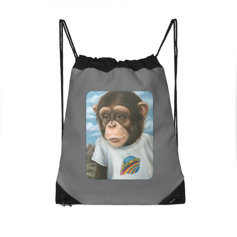 Auto Chimp Accessories Drawstring Bag Bag by Ken Keirns