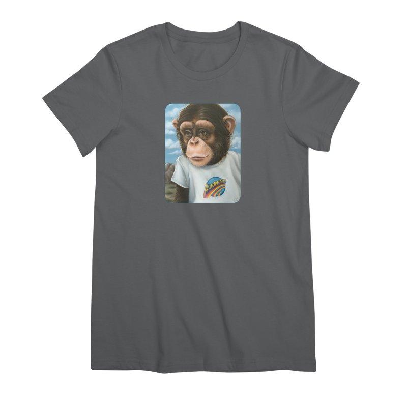 Auto Chimp Women's Premium T-Shirt by Ken Keirns