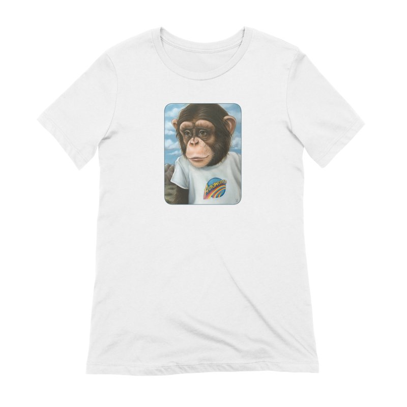 Auto Chimp Women's Extra Soft T-Shirt by Ken Keirns