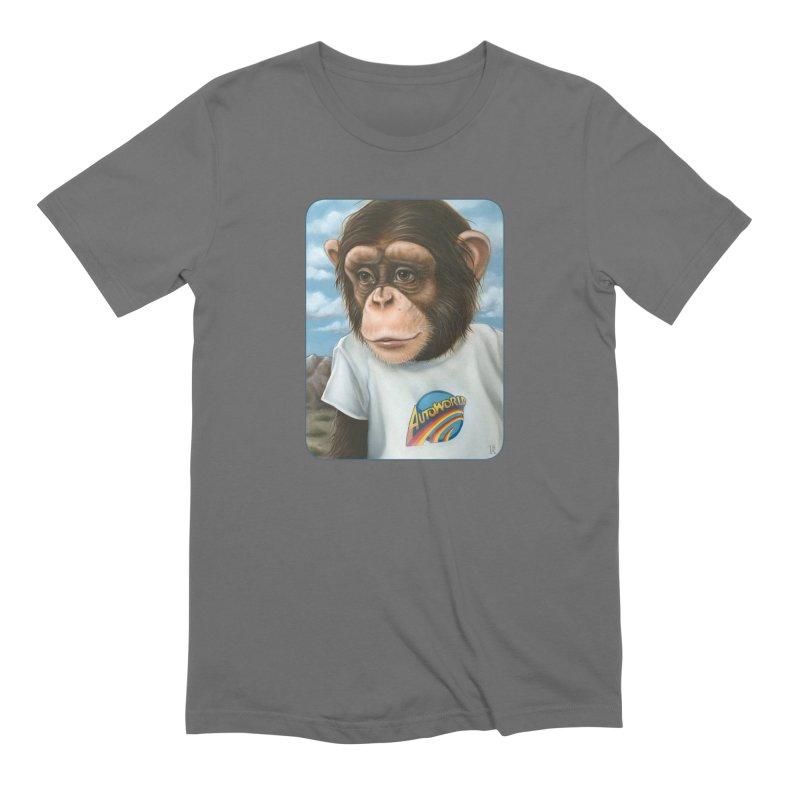 Auto Chimp Men's T-Shirt by Ken Keirns