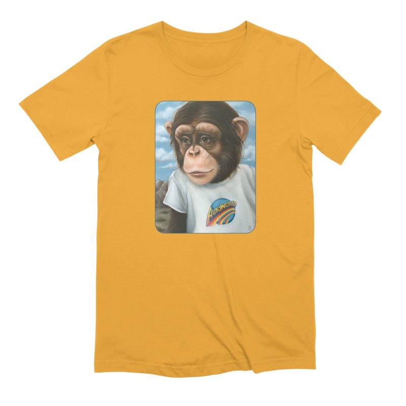 Auto Chimp Men's Extra Soft T-Shirt by Ken Keirns