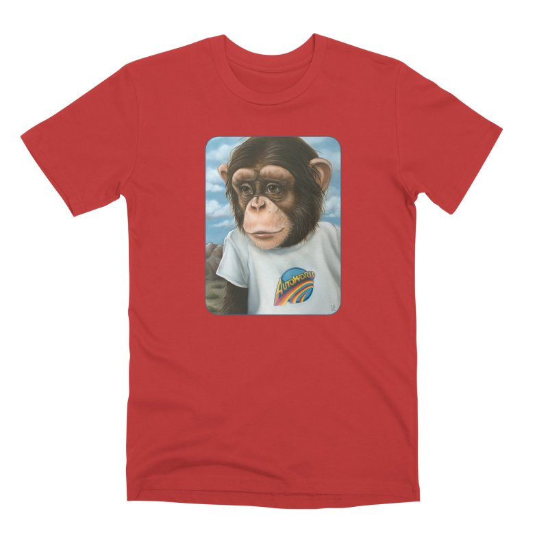 Auto Chimp Men's Premium T-Shirt by Ken Keirns