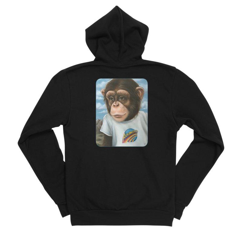 Auto Chimp Men's Zip-Up Hoody by Ken Keirns