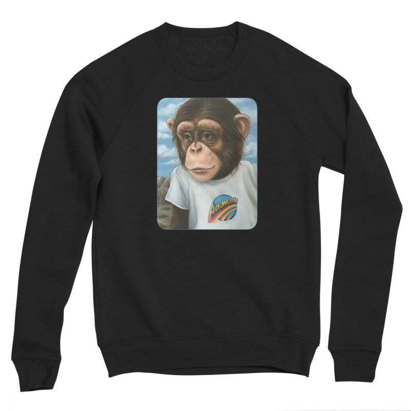 Auto Chimp Men's Sponge Fleece Sweatshirt by Ken Keirns