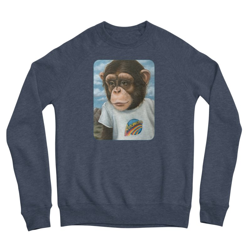 Auto Chimp Women's Sponge Fleece Sweatshirt by Ken Keirns
