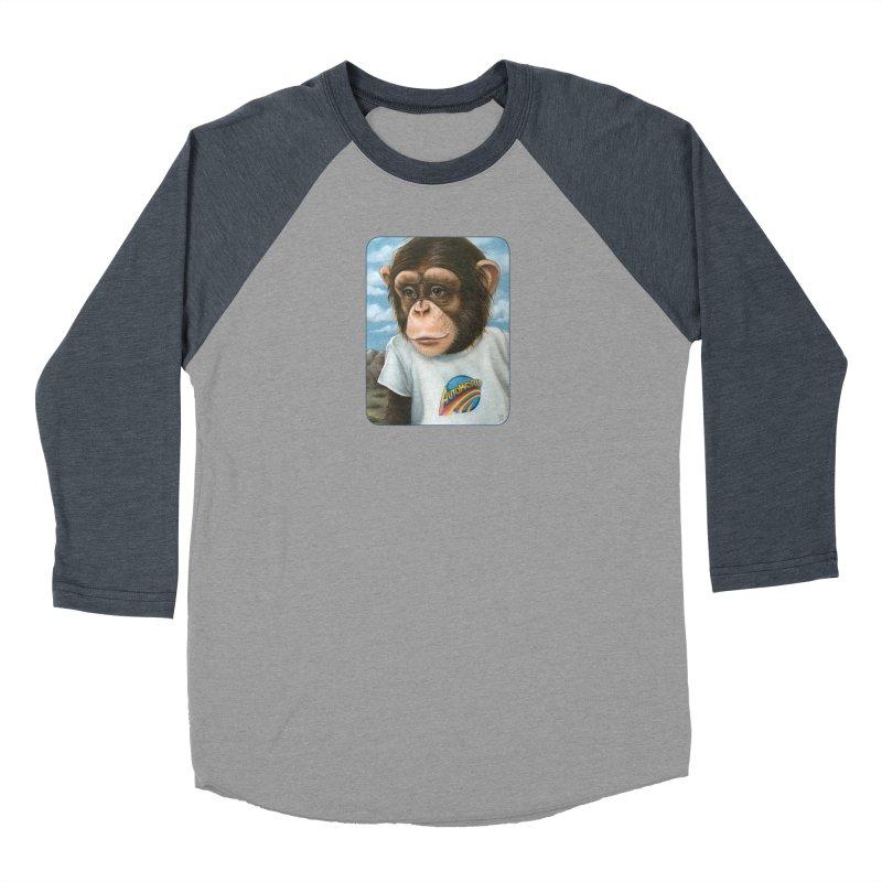 Auto Chimp Men's Baseball Triblend Longsleeve T-Shirt by Ken Keirns