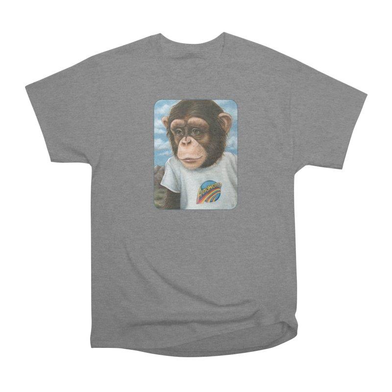 Auto Chimp Men's Heavyweight T-Shirt by Ken Keirns