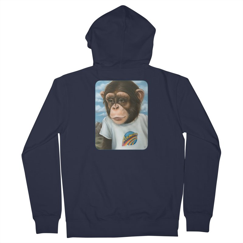 Auto Chimp Women's French Terry Zip-Up Hoody by Ken Keirns