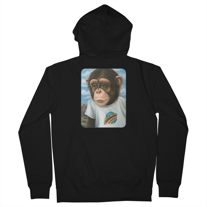 Auto Chimp Men's French Terry Zip-Up Hoody by Ken Keirns