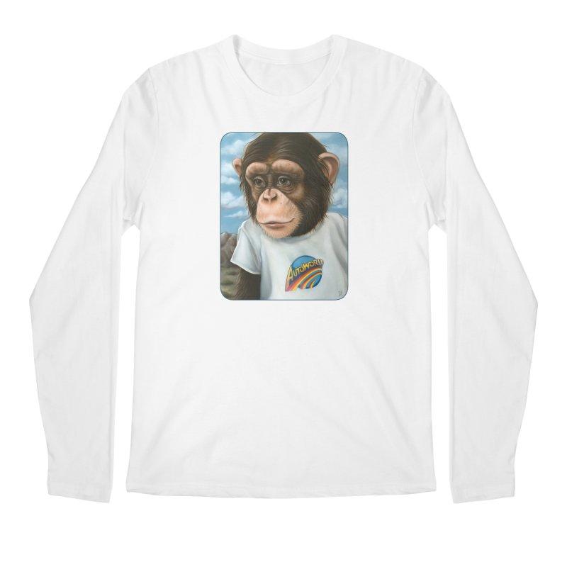 Auto Chimp Men's Regular Longsleeve T-Shirt by Ken Keirns