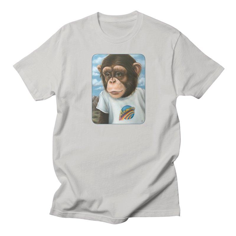 Auto Chimp Men's Regular T-Shirt by Ken Keirns