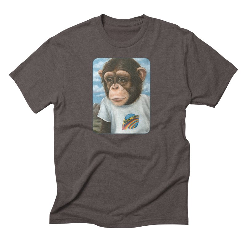 Auto Chimp Men's Triblend T-Shirt by Ken Keirns