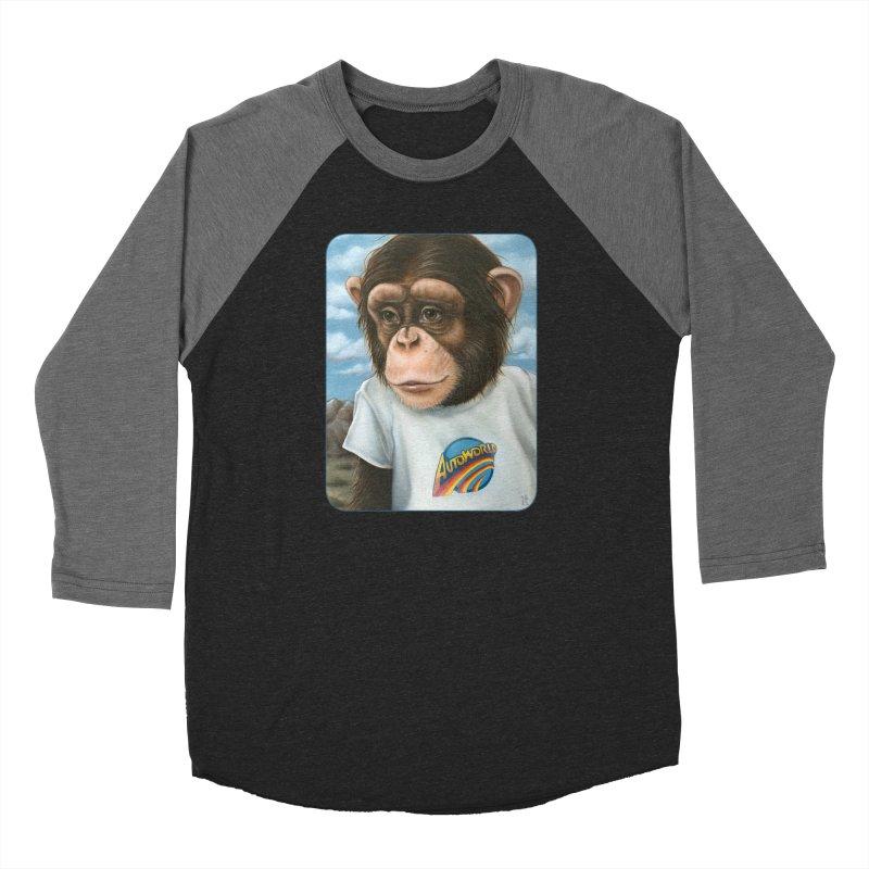 Auto Chimp Women's Baseball Triblend Longsleeve T-Shirt by Ken Keirns