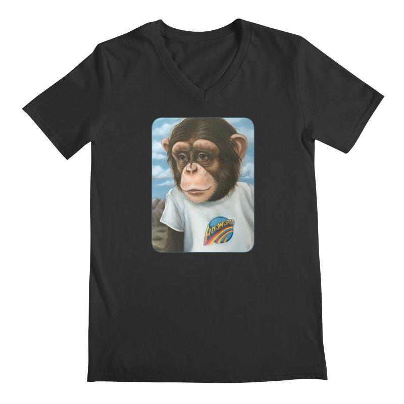 Auto Chimp Men's Regular V-Neck by Ken Keirns