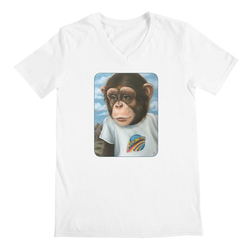 Auto Chimp Men's V-Neck by Ken Keirns