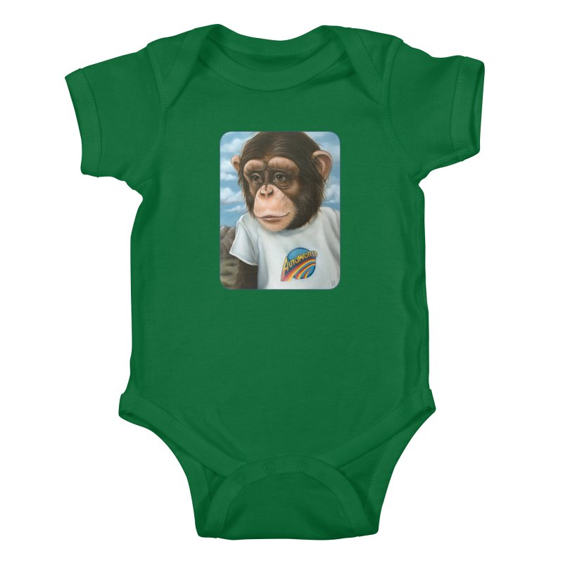 Auto Chimp Kids Baby Bodysuit by Ken Keirns