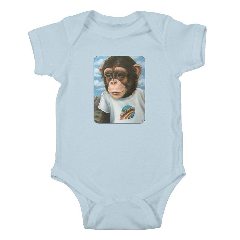 Auto Chimp Kids Baby Bodysuit by Ken Keirns