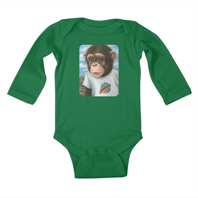 Auto Chimp Kids Baby Longsleeve Bodysuit by Ken Keirns