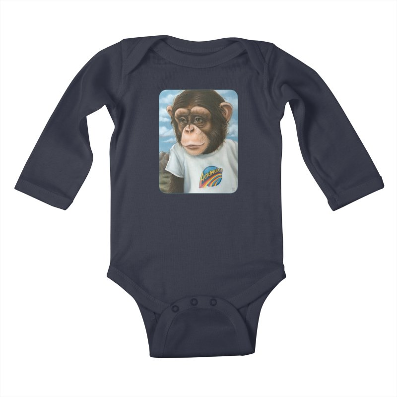 Auto Chimp Kids Baby Longsleeve Bodysuit by Ken Keirns