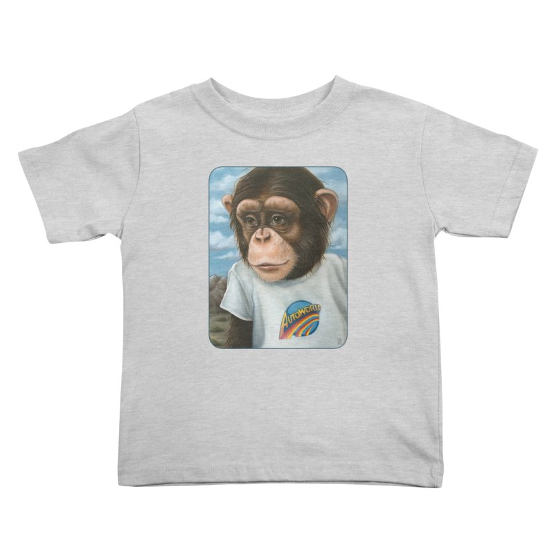 Auto Chimp Kids Toddler T-Shirt by Ken Keirns