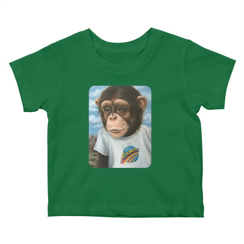 Auto Chimp Kids Baby T-Shirt by Ken Keirns