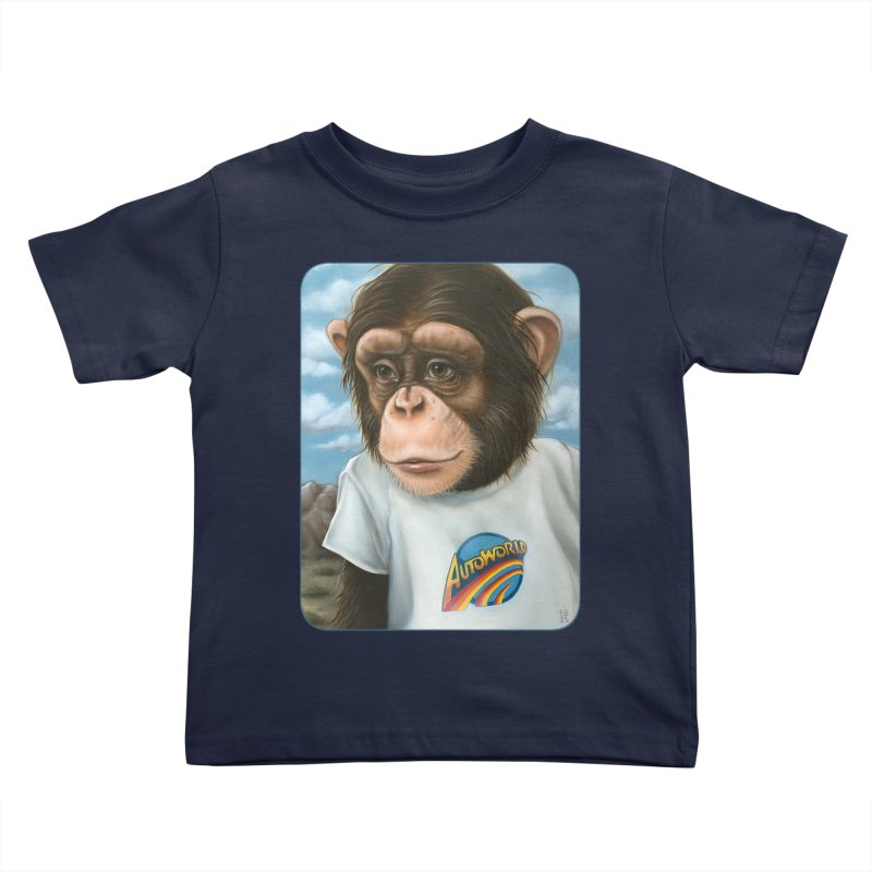 Auto Chimp Kids Toddler T-Shirt by Ken Keirns