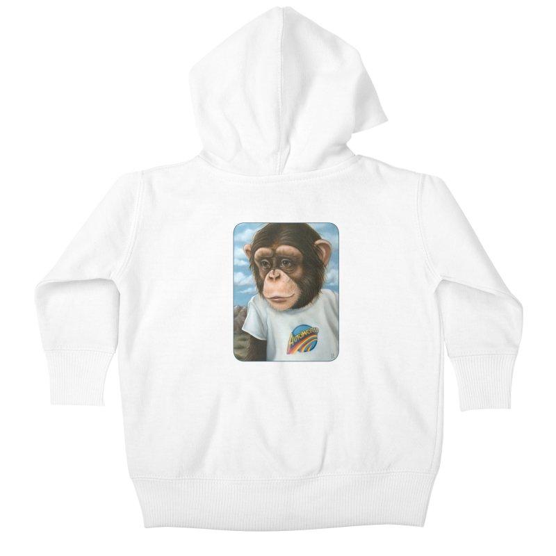 Auto Chimp Kids Baby Zip-Up Hoody by Ken Keirns