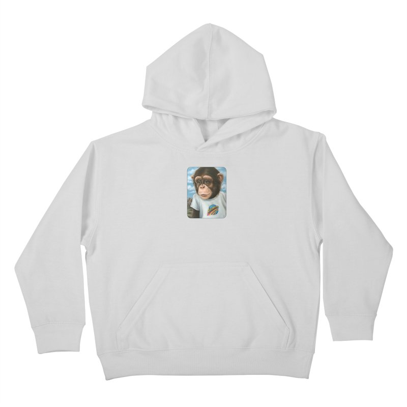 Auto Chimp Kids Pullover Hoody by Ken Keirns
