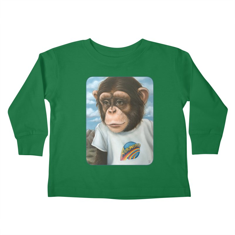 Auto Chimp Kids Toddler Longsleeve T-Shirt by Ken Keirns