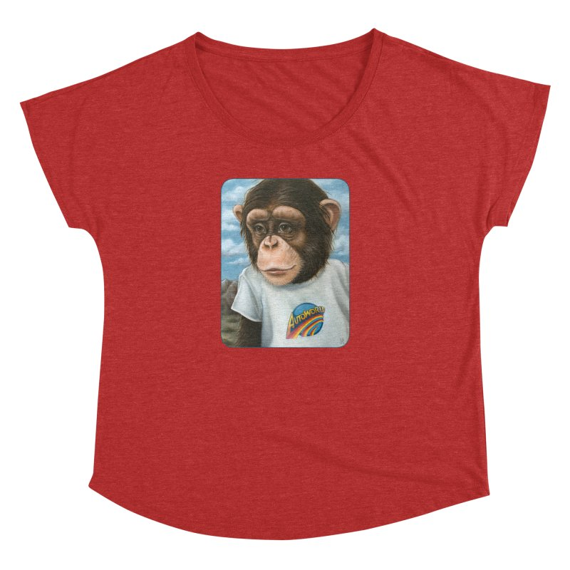 Auto Chimp Women's Dolman Scoop Neck by Ken Keirns
