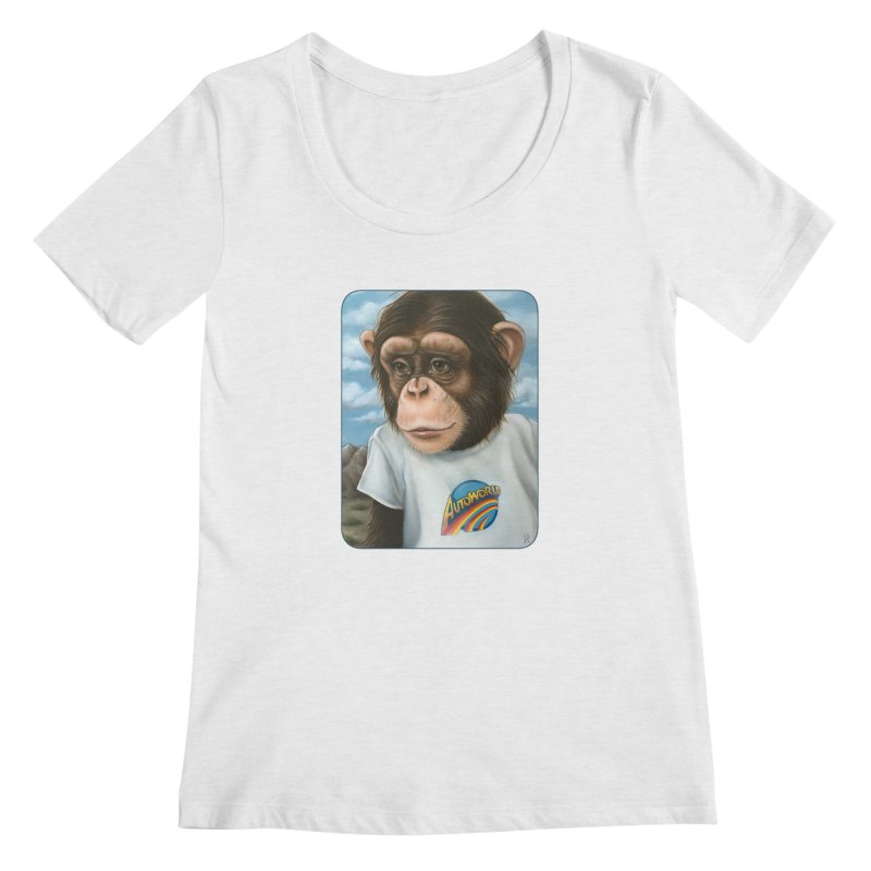 Auto Chimp Women's Regular Scoop Neck by Ken Keirns