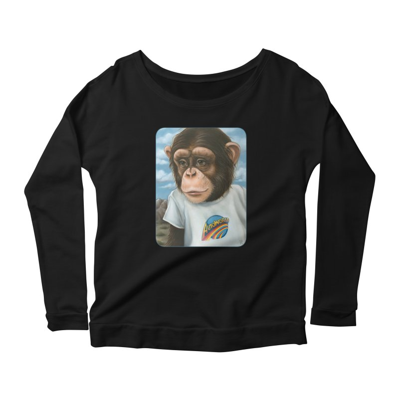 Auto Chimp Women's Scoop Neck Longsleeve T-Shirt by Ken Keirns