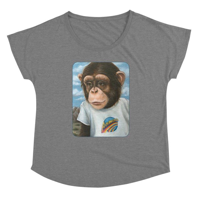Auto Chimp Women's Scoop Neck by Ken Keirns