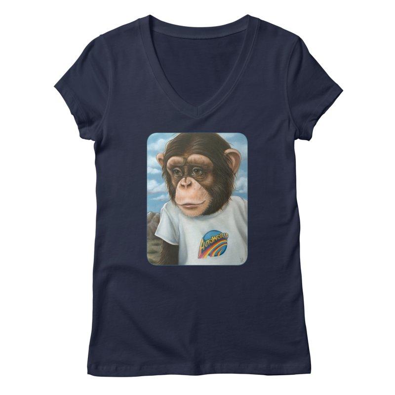 Auto Chimp Women's Regular V-Neck by Ken Keirns