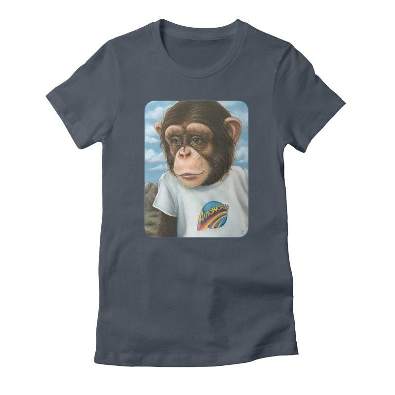 Auto Chimp Women's T-Shirt by Ken Keirns