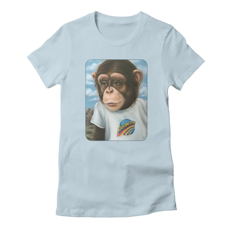 Auto Chimp Women's Fitted T-Shirt by Ken Keirns