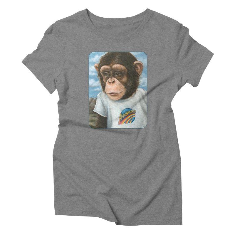 Auto Chimp Women's Triblend T-Shirt by Ken Keirns