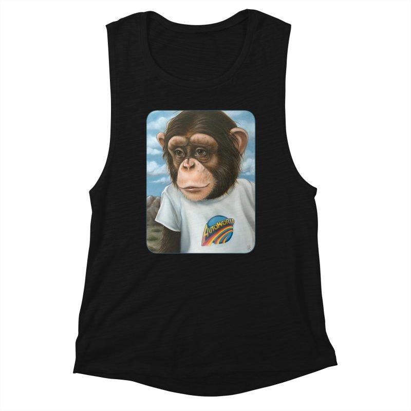 Auto Chimp Women's Muscle Tank by Ken Keirns