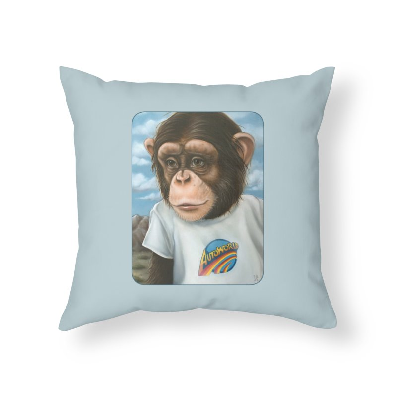 Auto Chimp Home Throw Pillow by Ken Keirns