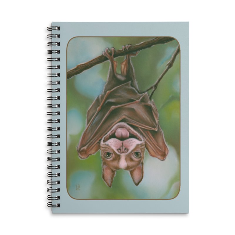 The rarely seen Boston Pteropus Accessories Lined Spiral Notebook by Ken Keirns