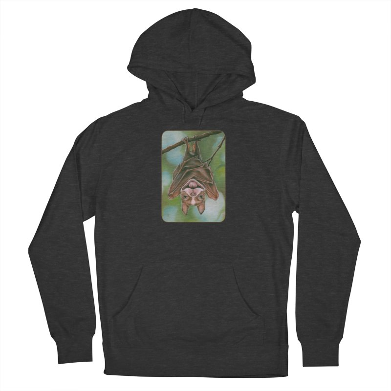 The rarely seen Boston Pteropus Women's French Terry Pullover Hoody by Ken Keirns