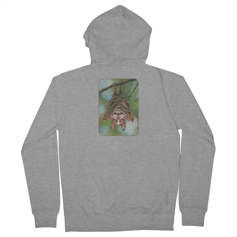 The rarely seen Boston Pteropus Women's French Terry Zip-Up Hoody by Ken Keirns