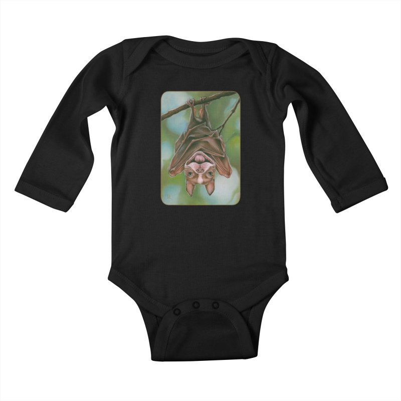 The rarely seen Boston Pteropus Kids Baby Longsleeve Bodysuit by Ken Keirns